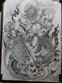 New Design Tattoo Sketch Ideas Forarm Tattoos, Leg Tattoos, Body Art Tattoos, Small Tattoos, Sleeve Tattoos, Tattoos For Guys, Buddha Tattoo Design, Buddha Tattoos, Khmer Tattoo