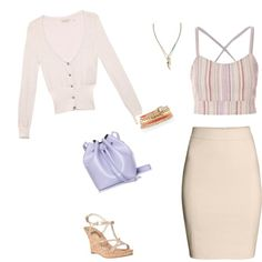 So Cindy by fromphilly on Polyvore featuring polyvore, fashion, style, GUESS, H&M, MICHAEL Michael Kors, Rachael Ruddick, White House Black Market and Banana Republic