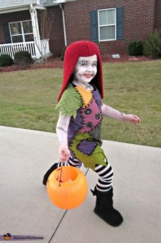 Sally Skellington - homemade Halloween costume