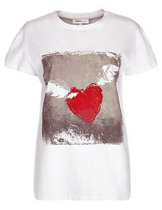 Pure Cotton Winged Heart T-Shirt