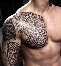 chest tribal tattoo 2016