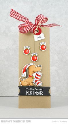 Dog Christmas Kraft Tag