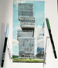 Edificio Americas 2   #sordomadaleno #drawing #Architecturedrawing #wip #markers  #arquitetapage #archisketcher #archmore #Arqsketch#ilustration #croquis Sketchers, Bonsai, Markers, Skyscraper, Multi Story Building, America, Drawings, Buildings, Sketch