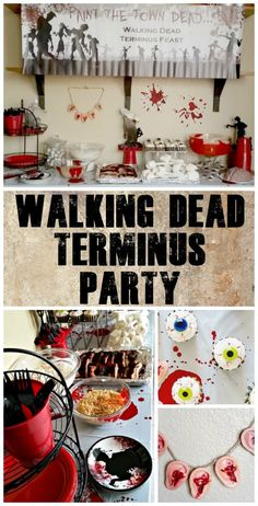 The walking dead 25 recipes and crafts for a zombie approved party simple diy terminus walking dead party easy party decor with oriental trading fun cannibal themed party food and daryls zombie ear neckalce ad forumfinder Images