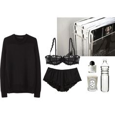 Untitled A fashion look from September 2013 featuring long jumpers, underwear lingerie and edp perfume. Browse and shop related looks. Cute Lazy Outfits, Outfits For Teens, Casual Outfits, Fashion Outfits, Lounge Outfit, Lounge Wear, Long Jumpers, Looks Style, Lingerie Sleepwear