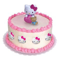 Hello Kitty Cake Topper and 8 Rings Description: Dress up your cake with a pretty kitty! Includes one Hello Kitty cake topper and 8 Hello Kitty rings. Please Note: cheschire cat costume, kids cat halloween costume, cat masquerade costume Happy Birthday Torte, Luau Birthday Cakes, Cupcake Birthday Cake, Birthday Cake Girls, Cupcake Cakes, Cupcakes, Birthday Wishes, 25 Birthday, Birthday Treats