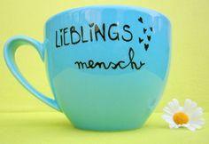 """Tasse  """" Lieblingsmensch """" von hochdietassen auf DaWanda.com"""