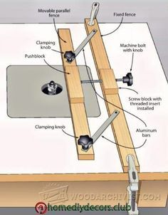 Router Table Fence Micro Adjuster - Router Tips, Jigs and Fixtures - Woodwork, Woodworking, Woodworking Tips, Woodworking Techniques Diy Router, Router Jig, Router Woodworking, Woodworking Techniques, Woodworking Projects Diy, Diy Wood Projects, Woodworking Tools, Woodworking Furniture, Woodworking Equipment