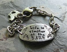 Handstamped Horse Quote BraceletStainless by EquineExpressionsbyD, $28.00
