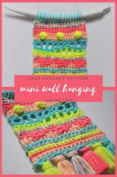 Crochet Wall Art, Yarn Wall Art, Crochet Wall Hangings, Crochet Geek, Crochet Home, Free Crochet, Knit Crochet, Beginner Crochet, Easy Crochet