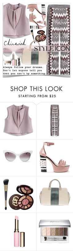 """""""♥ Chicwish Top ♥"""" by av-anul ❤ liked on Polyvore featuring Chicwish, Missoni, Wildfox, RED Valentino, tarte, Victoria Beckham, Clarins, Christian Dior, chicwish and avanul"""