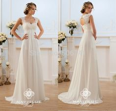 Cheap Wedding Dresses, Buy Directly from China Suppliers:Warmly welcome to my store,may you have a nice shopping here !!!vestido de noiva A-Line Empire Cheap Wedding Dress Open