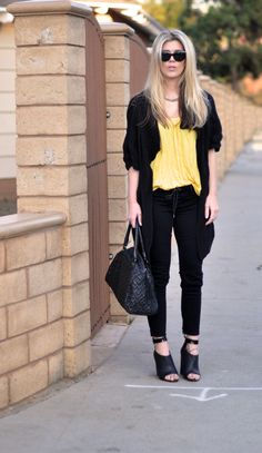 Yelow and black