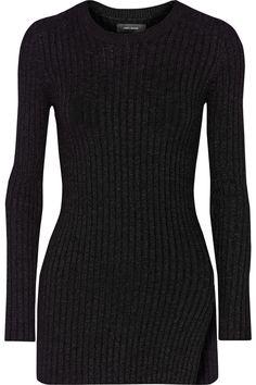 ISABEL MARANT Elea Ribbed-Knit Sweater. #isabelmarant #cloth #sweater