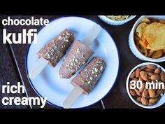 Quick Dessert Recipes, Sweet Desserts, Easy Desserts, Sweet Recipes, Snack Recipes, Kulfi Recipe Easy, Malai Kulfi Recipe, Chocolate Custard, Chocolate Flavors