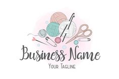 Crochet Dolls Design Custom logo design, crochet yarn logo, sew knitting logo, yarns logo, crochet sewing or knitting logo - Custom Logo Design, Custom Logos, Business Logo, Business Card Design, Business Names, Crochet Dolls, Crochet Yarn, Knitting Patterns Free, Creative Logo