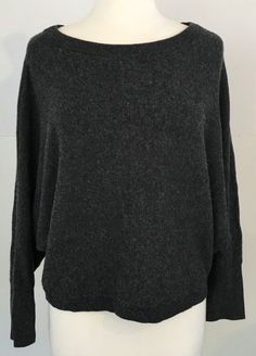 Vince Women's Cashmere dolman sleeve Charcoal Gray Sweater XS | Clothing, Shoes & Accessories, Women's Clothing, Sweaters | eBay!