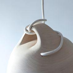 Wood lamp detail
