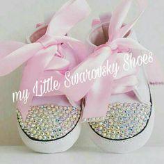 Schoenen Converse baby met swarovski van MYLITTLESWAROVSKY op Etsy