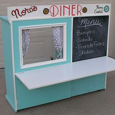 Turn and old cabinet into a diner for kids. A DIY tutorial and gift idea