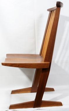 122024: GEORGE NAKASHIMA WALNUT CONOID CHAIR : Lot 122024