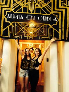 sisters posing like this in front of the house (doesnt have to be this close) so you can see the house and the dphie letters in the background