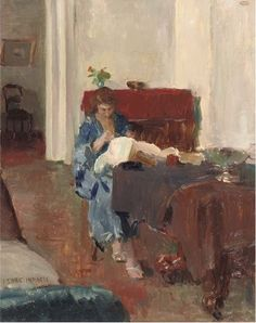 'Isaac' Lazarus Israels (Amsterdam Den Haag) Sophie in interior - Dutch Art Gallery Simonis and Buunk Ede, Netherlands. Figure Painting, Painting & Drawing, Renoir, Monet, James Ensor, Kunst Online, Dutch Painters, Dutch Artists, Fashion Painting