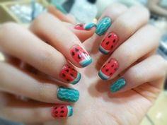 Watermelon nail