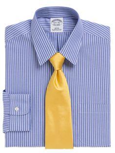 Slim Fit Stripe Dress Shirt - Brooks Brothers @ GetThis.tv $88