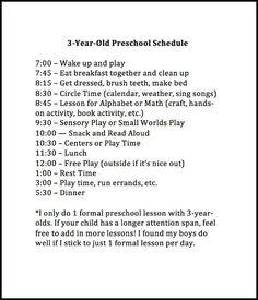Weekly Preschool Planner {Free Printable}