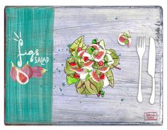 http://patriciasodre.tumblr.com/  Figs Salad: Lettuce and rocket Buffalo mozzarela cheese Sweet tomatoes Fresh figs Basil Season with olive oil, salt and black peper