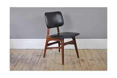 Set Of Four Black Skai Chairs photo 1