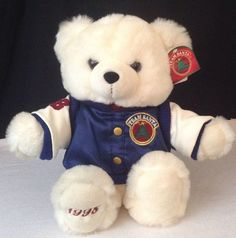 "NEW w Tags Kmart Team Santa 1998 Stuffed 16"" Plush White Christmas Teddy Bear #kmart"