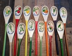 wooden spoon garden markers - Google Search