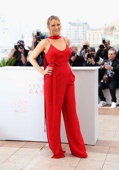 Blake Lively in einem Jumpsuit von Juan Carlos Obando beim Filmfest in Cannes