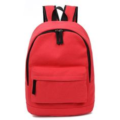 Korea Style Fashion Backpacks for Men and Women Solid Preppy Style Soft  Back Pack Unisex School Bags Big Capicity Canvas Bag f9fc0714b9f73