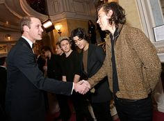 Prince William & One Direction from Stars Meeting Royals