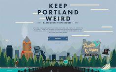 Keep Portland Weird #isotw #webdesign #inspiration