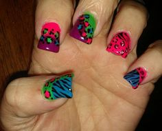 wild animal prints - Nail Art Gallery by | http://extremenailsguide.blogspot.com