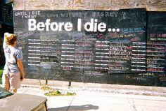 #graffiti #bucketlist #chalkboard