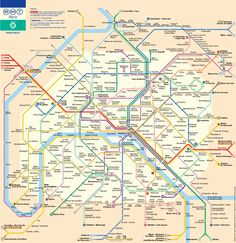 Paris Metro Map - Subway Travel Guide - Download the Map in PDF