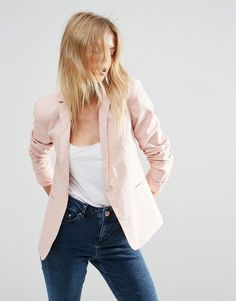 Image 1 ofASOS Tailored Blazer in Linen