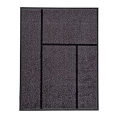 "IKEA - KÖGE, Door mat, 2 ' 3 ""x2 ' 11 "", , The door mat is perfect for outdoor use since it is made to withstand rain, sun, snow and dirt."