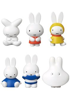 60 Year Anniversary Miffy Toys from Medicom Toy Art, Kid Character, Character Design, Doodle Cake, Bunny Party, Biscuit, Rabbit Art, Miffy, Kawaii