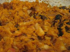 """Gluten Free A-Z : Thanksgiving Sweet Potato """"Tzimis"""" is also for Passover Vegan Potluck, Sweet Potato And Apple, Vegetarian Thanksgiving, Sweet Potato Casserole, Caramelized Onions, Raw Vegan, Holiday Recipes, Macaroni And Cheese, Vegan Recipes"""