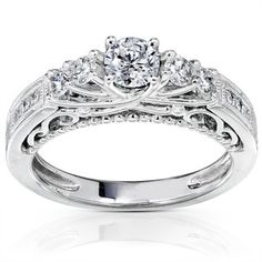 @Overstock - Click here for ring sizing guideRound-cut diamond engagement ring14-karat white gold jewelryhttp://www.overstock.com/Jewelry-Watches/14k-Gold-3-4ct-TDW-Brilliant-Diamond-Ring-with-Satin-and-Velvet-Gift-Box-H-I-I1-I2/2738431/product.html?CID=214117 $1,066.49