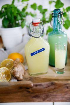 ingefärsshot Detox Recipes, Raw Food Recipes, Wine Recipes, Healthy Recipes, Healthy Snacks, Healthy Eating, Alcohol Detox, Swedish Recipes, Sugar Cravings