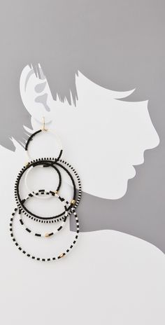 Noir Jewelry Beaded Multi Hoop Earrings | SHOPBOP