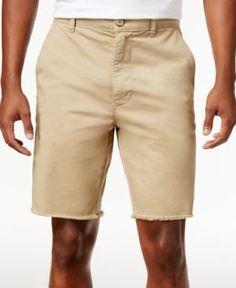 American Rag Men's Raw Edge Twill Chino Shorts, Created for Macy's - Tan/Beige 36