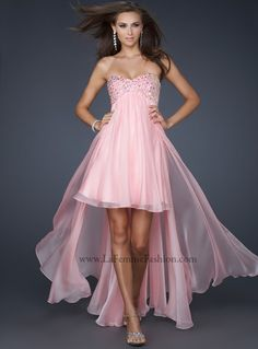 #LaFemme 17502 Cotton Candy Pink Prom Dress, high low prom dress, #InternationalProm #Prom #Promdress #Prom360